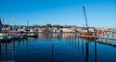 Ein Blick auf den Flensburger Hafen.