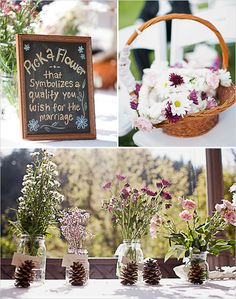 This is a fantastic idea. Pick a flower that symbolizes the quality you wish for the marriage.