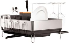 Sabatier Dish Rack Enchanting Sabatier Expandable Compact Dish Rack With Wine Glass Holder Review