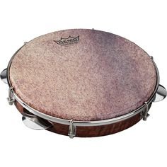 Remo Samba Choro Pandeiro with Chrome Jingles Goat Brown 10 In x 1.78