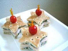 Star shaped sandwiches... maybe a grown up version and a PBJ for kids