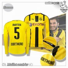 Maillots-Sport: Le Nouveau Maillot Du Dortmund BVB Manche Longue Bartra 5 Domicile 2016 2017