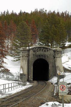 Moffat Tunnel, Colorado   When you saw this, you knew you were close to ski time!