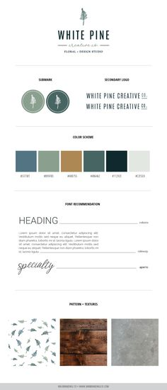 Brand reveal and style guide for White Pine Creative Co. from Witt and Company Hotel Branding, Event Branding, Business Branding, Restaurant Branding, Branding Companies, Branding Kit, Corporate Branding, Business Tips, Social Media Branding