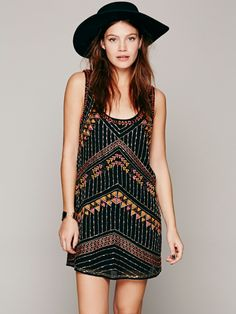 Free People Tribal Arrows Embellished Shift, CLP$87057.60