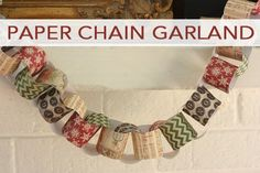The following post is from Myra of My Blessed Life: One of my earliest childhood memories of Christmas anticipation is making a paper chain with my mom. We always used red and green construction paper and we made the number of rings correspond with the number of days until Christmas. This is something that my …