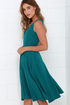 346e32250528 With an exceptionally chic design, the Of My Dreams Teal Blue Midi Dress is  everything