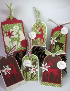 stamping up north: Cricut Christmas Deer Tags