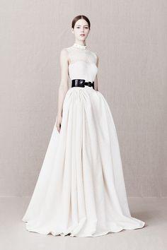 High Fashion   Bridal Style   Wedding Ideas: Elegant McQueen wedding dress with leather belt