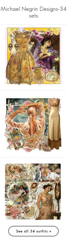 """""""Michael Negrin Designs-34 sets"""" by pinkflamingorose ❤ liked on Polyvore featuring Jay Strongwater, Michal Negrin, vintage, michal negrin, art, Mary Frances Accessories, Alix, Anthropologie, Naughty Monkey and Finders Keepers"""