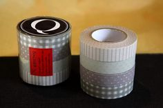Available in singles or as a set of 4 - pretty Japanese Washi Masking Tape in 13mm with neutral grey tone. This one is perfect for embellishment, scrapbooking, collage, cute gift wrapping and packaging. $3.00