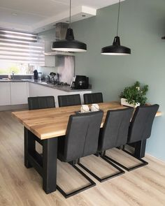 Office Interior Design Ideas Modern is completely important for your home. Whether you choose the Home Office Design Modern or Office Interior Design Ideas, you will create the best Small Office Design Workspaces for your own life. Kitchen Room Design, Dining Room Design, Dining Room Table, Kitchen Decor, Kitchen Ideas, Kitchen Walls, Kitchen Dining, Home Living Room, Living Room Decor