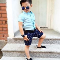 Toddler Swag, Toddler Boy Fashion, Little Boy Fashion, Boys Short Outfits, Baby Boy Outfits, Stylish Boys, Trendy Kids, Outfits Niños, Kids Outfits