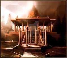 Temple Front View by Baahubali.deviantart.com on @DeviantArt