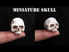 Newest Pic Clay sculpture skull Tips Miniature Polymer Clay Skull Tutorial // Maive Ferrando Polymer Clay Kunst, Polymer Clay Sculptures, Polymer Clay Miniatures, Fimo Clay, Polymer Clay Charms, Polymer Clay Projects, Polymer Clay Creations, Sculpture Clay, Clay Beads