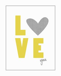 Love you printable for project life free, from Persnickety prints Holiday Crafts, Holiday Fun, Typographie Logo, Do It Yourself Design, Love Days, Subway Art, Mellow Yellow, Grey Yellow, Project Life