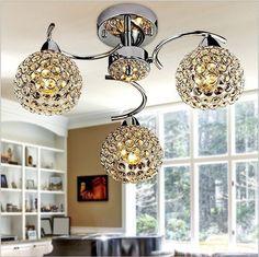 Modern living lustre room fashion Restaurant Continental bedroom LED Crystal Ceiling Lights E14 AC110-260V Ceiling Lights