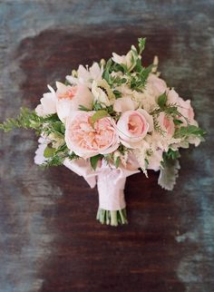 Blush Pink + White Bouquet -- Mindy Rice Floral Design -- Photography: Elizabeth Messina - kissthegroom.com -- See the wedding here: http://www.StyleMePretty.com/2014/04/01/blushing-black-tie-affair-at-the-four-seasons/ #smp