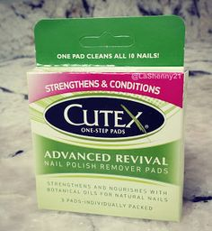 #GoddessVoxBox #SoCutex #HealthyNails   LaShenny...That's Me!: REVIEW: Cutex Nail Polish Remover Pads