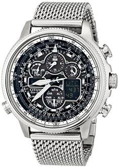 Great gift idea Citizen Eco-Drive Men's JY8030-83E Navihawk A-T Analog Display Silver Watch