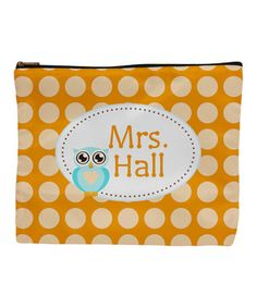 Another great find on #zulily! Orange Owl Personalized Accessory Bag by Bright Design Studios #zulilyfinds