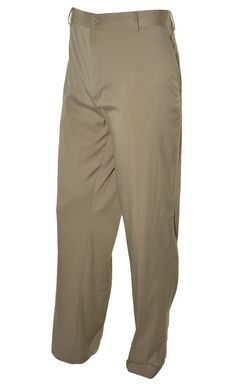Nike Golf Mens Dri Fit Pants Stay Cool Flat Front 42x30 Lightweight Brown NEW #NikeGolf #CasualPants