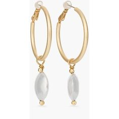 Chico's Women's Mixed Metal Hoop Earrings ($25) ❤ liked on Polyvore featuring jewelry, earrings, mixed metal, polish jewelry, mixed metal jewelry, mixed metal jewellery, mixed metal earrings and chicos jewelry