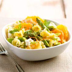 Orange, Mint, and Asparagus Pasta Salad