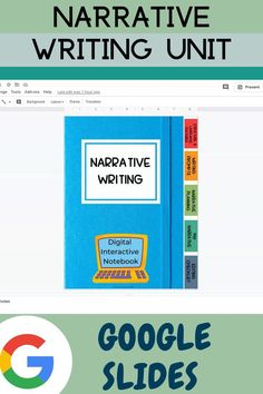 Narrative Writing Digital Interactive Notebook. This 50+ page Google Slides is designed to be a one-stop-shop for teaching narrative writing. The digital interactive notebook is divided into 5 sections, 1: Narrative Writing Structure and Language Features 2: Narrative Writing Prompts, Narrative Planning Graphic Organizers for Narrative Writing, My Narrative, Editing Checklists, Narrative Structure Checklist #googleclassroom #interactivenotebook #narrativewriting #sarahanne #googleslides #tpt First Year Teaching, Beginning Of The School Year, 2nd Grade Teacher, Fourth Grade, Third Grade, Teaching Narrative Writing, Writing Prompts, Creative Teaching, Teaching Tips
