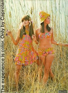 Late 60s Caprolan ad. Love these outfits.