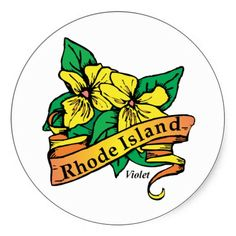 Rhode Island RI Vintage State Flower Violet Stickers #Stickers #States