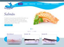 Layout de Site Criado para a Empresa Gomez Pescados