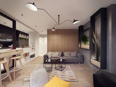 Love the practicality combined with a bit of whimsy in that ceiling lamp :)