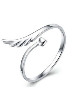 a #silver #wing #ring