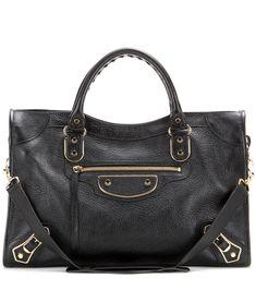 17d0e31825 Balenciaga Classic Metallic Edge City leather tote black [P00188325] -  $289.00 : Upscalebags.