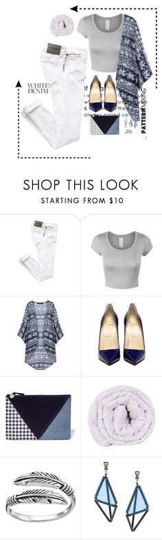 """Denim~Pattern~Mixing"" by mpsav ❤ liked on Polyvore featuring Clare V., Primrose and Issey Miyake"