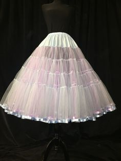 Flash Sample Sale*** Lilac and pale blue soft tulle ribbon edged Petticoat 3 Layers! Petticoats~A~Plenty by PetticoatsAPlentyMe on Etsy Petticoats, Lilac, Layers, Tulle, Ribbon, Fashion Outfits, Clothes For Women, Female, Trending Outfits