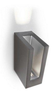 Nástěnné svítidlo LED PHILIPS PH168189316 | Uni-Svitidla.cz Moderní nástěnné svítidlo vhodné jako osvětlení venkovních prostor #outdoor, #light, #wall, #front_doors, #style, #modern, #led