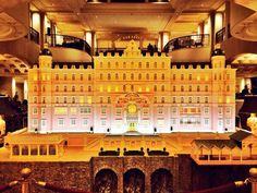 Wes Anderson's Grand Budapest Hotel (model) on display at the grand Adlon Kempinski Hotel in Berlin.