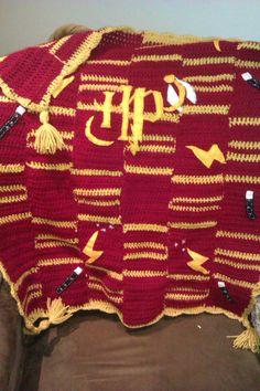 Crocheted Harry Potter pram blanket