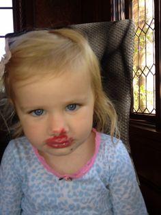 More lip gloss. She loves grandma's  makeup drawer