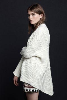 Oversized white sweater