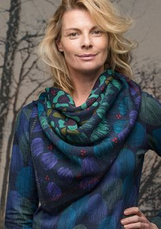 """""""Minna"""" shawl in wool – Finland – GUDRUN SJÖDÉN – Webshop, mail order and boutiques 