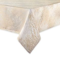Waterford® Linens Timber Tablecloth in Gold/Silver - BedBathandBeyond.com
