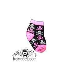 Grey//Pink Sock Size 4-6 Kiditude Cross Bones Girls Socks