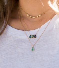 18k Australian Boulder Opal Triplet Necklace - Audry Rose