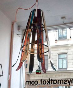 ski chandelier