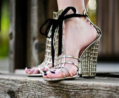 Japanese Gardens YSL ~ cage shoes