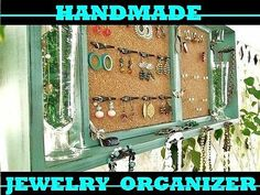 Jewelry Organizer Wall Display Shelf Jade Black Distress Shabby Chic | eBay