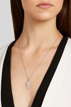 Anita Ko   Collier en or blanc 18 carats et diamants Large Leaf   NET-A-PORTER.COM
